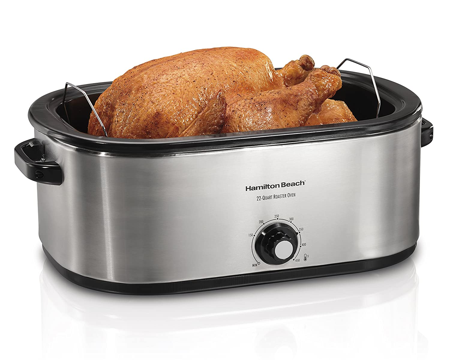 30 lb Turkey Roaster Oven, Double your Oven Space, 22 Quart Capacity, Roasts, Bakes & Cooks - Convenient Countertop Cooking for Meats, Side Dishes, & More, Removable Pan - Removes for Easy Cleanup