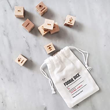 Foodie Dice® No. 1 Seasonal Dinners (pouch) // Foodie gift, gift for couples, cooking gift, hostess gift or birthday gift