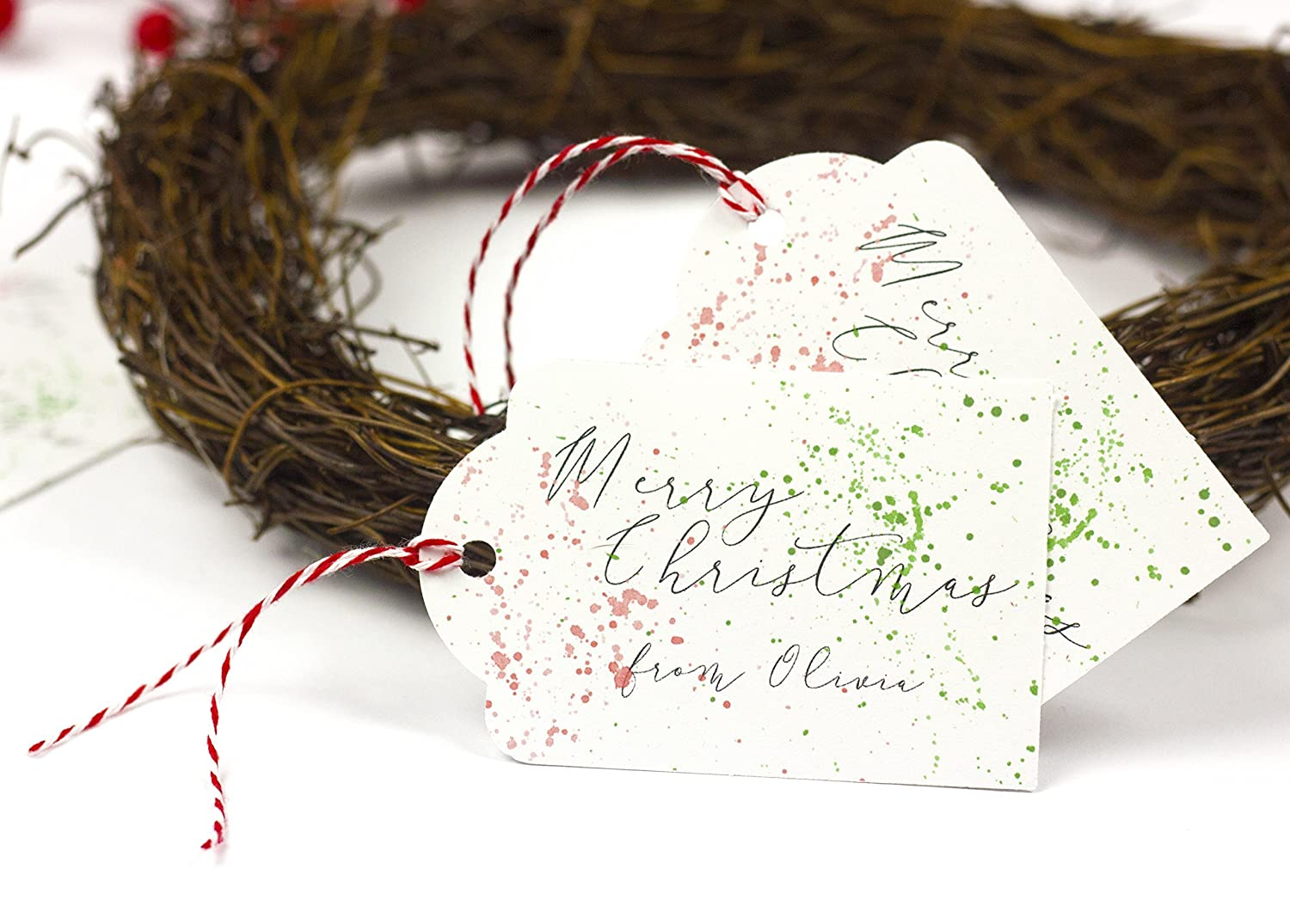 Personalized Christmas Gifts.Personalized Christmas Tags With String Personalized Christmas Gift Tags Personalized Holiday Gift Tags Red And Green Christmas Tags With Twine