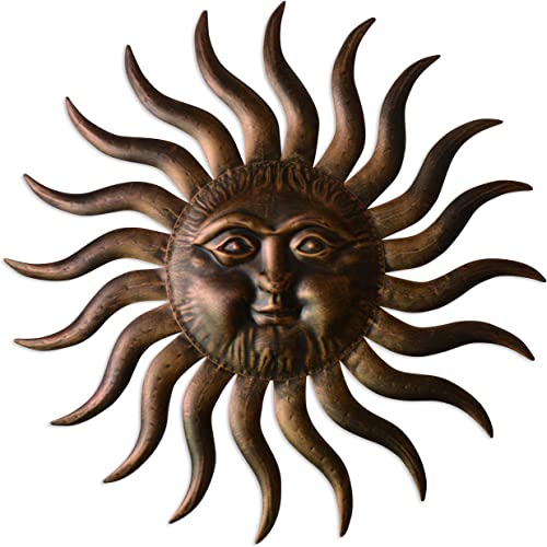 Comfy Hour 31″ Sun Face Wall Decor