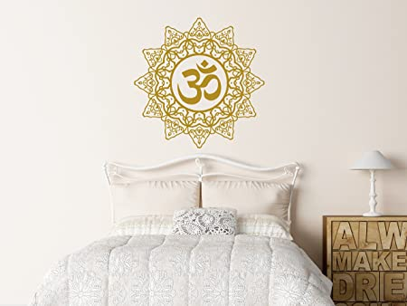 Mandala Wall Decals Yoga Studio Namaste Ornament Vinyl Sticker Art