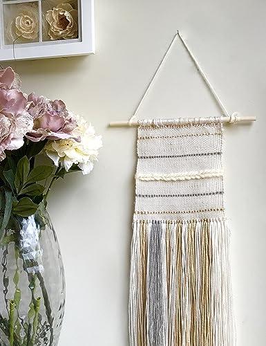 Attirant Woven Wall Hanging / Boho Wall Hanging / Modern Tapestry / Home Decoration  / Bohemian Wall