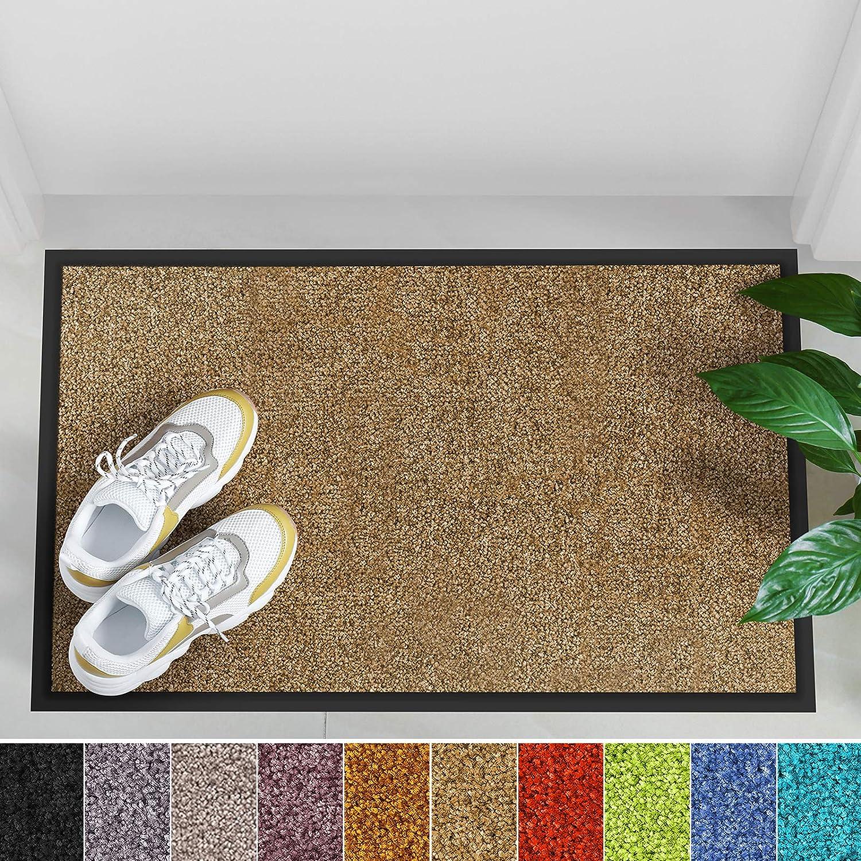 Beige casa pura Tappeto Ingresso Casa Tantissimi Colori Intrappola Lo Sporco 40 x 60 cm Zerbino Ingresso Esterno e Interno