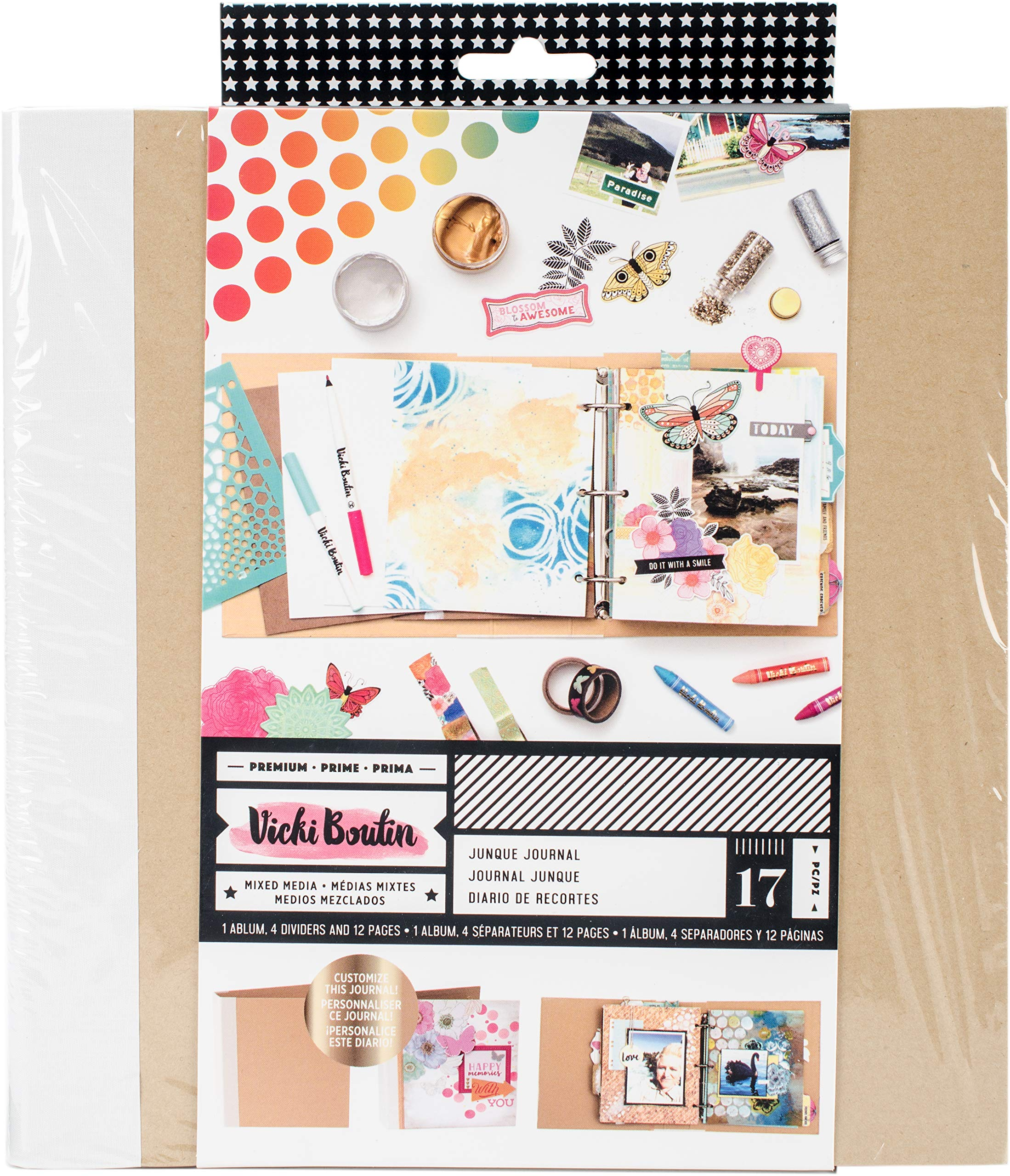 American Crafts 8.75''X9.25'' Kraft Vicki Boutin Mixed Media Junque Journal by American Crafts