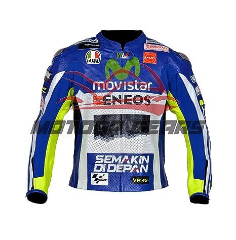 huge selection of 6e2d5 2e4ed MOTOGPGEARS Valentino Rossi - Giacca in pelle per moto da ...