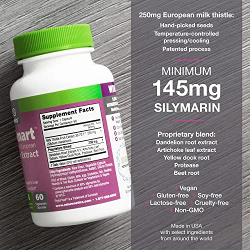LiverSmart – Milk Thistle Liver Cleanse Support Supplement – 145mg Silymarin – 6 Antioxidant Ingredients to Protect The Liver – Vegan – Independently Tested 1