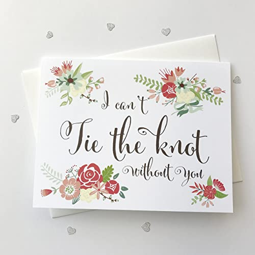 8 Ct I Cant Tie The Knot Without You Wedding Day Cards Thank