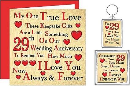 Anniversario Di Matrimonio 29 Anni.Our 29th Anniversario Di Matrimonio Confezione Regalo Carta