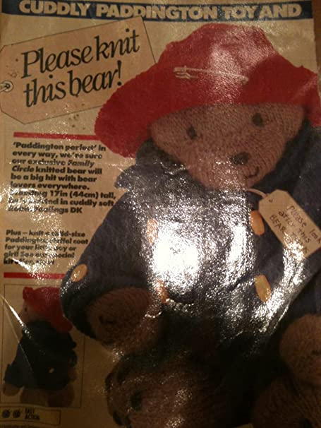 Original Family Circle Knitting Pattern Pullout For Paddington Bear