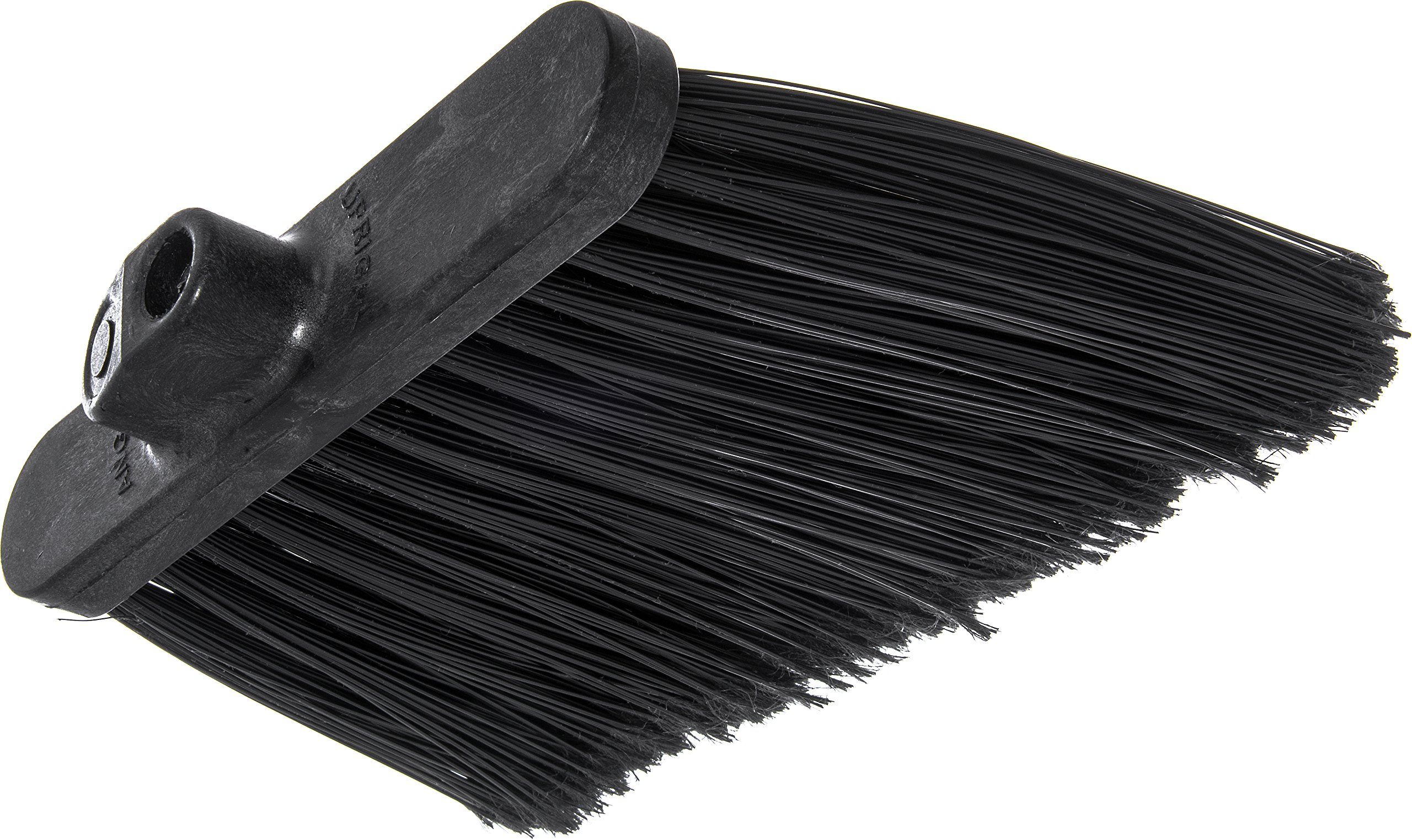 Carlisle 3686703 Duo-Sweep Medium Duty Flagged Angle Broom Head, Polypropylene Bristle, 8'' Overall Length x 12'' Width, Black (Case of 12) by Carlisle (Image #2)