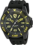 Scuderia Ferrari Men's 'XX Kers' Quartz Stainless Steel and Silicone Casual Watch, Color:Black (Model: 0830307)