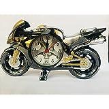 MHE Creative Decorative Bike with Alarm Clock (Jet Black)