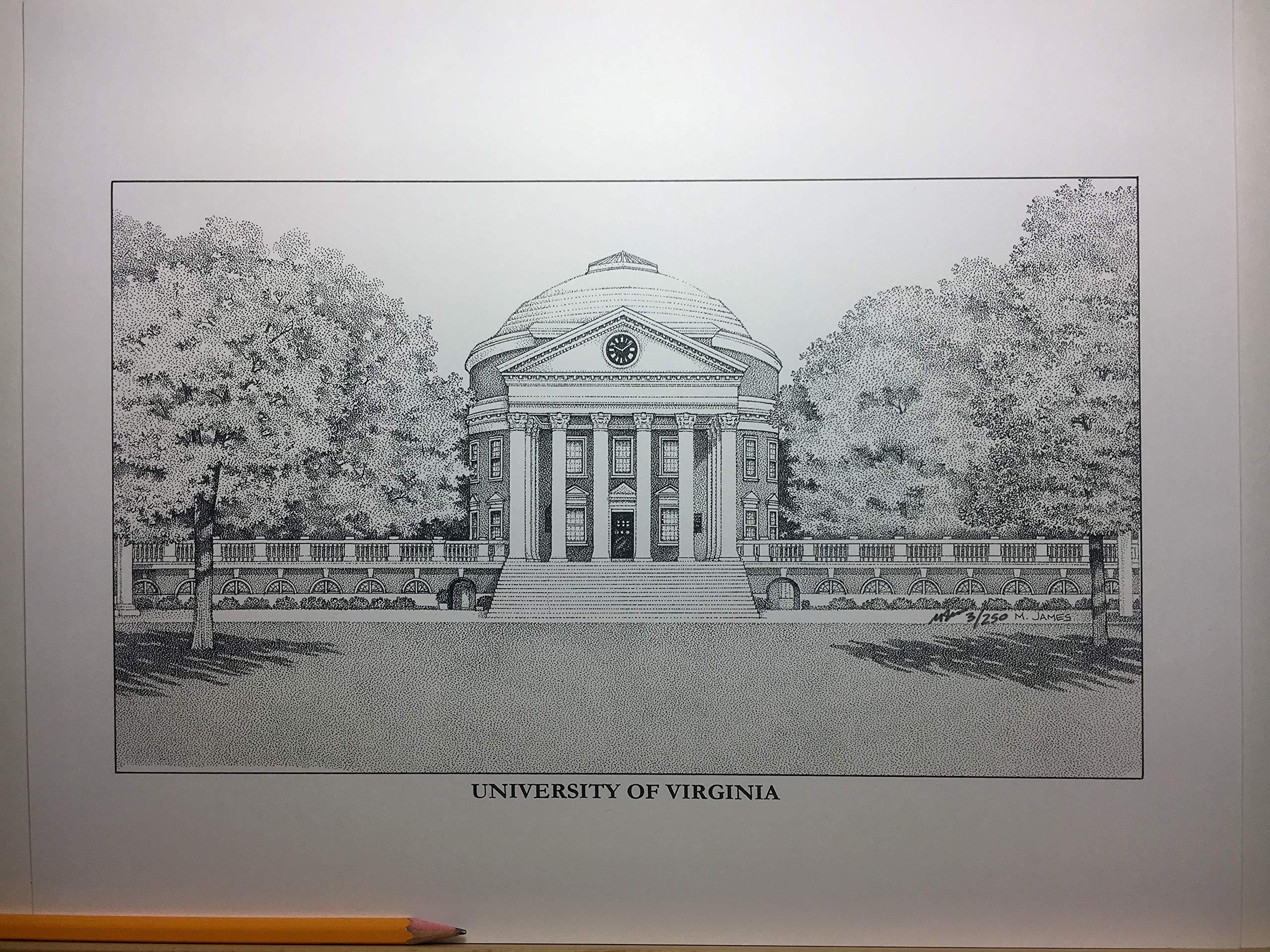 University of Virginia - The Rotunda 11''x14'' hand-drawn pen and ink print