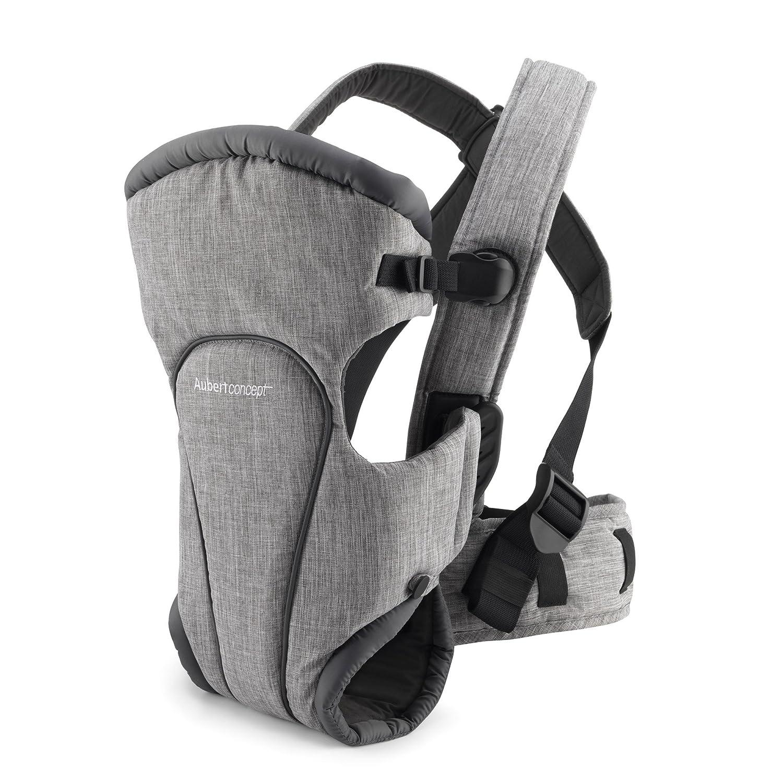 Porte-bébé Aubert Concept beige - portage ventral et dorsal