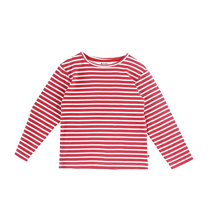 Piccalilly camiseta manga larga rayas rojas y blancas