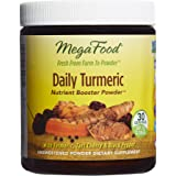 MegaFood - Daily Turmeric Booster Powder, Promotes Healthy Stress and Inflammatory Response with Tart Cherry and Holy Basil Leaf, Vegan, Gluten-Free, Non-GMO, 30 Servings (2.08 oz) (FFP)