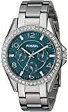 Fossil Women's ES3647 Riley Multifunction Stainless Steel Watch with Teal Dial