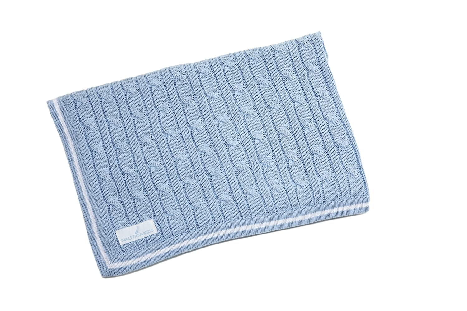 Nautica baby bedding william - Amazon Com Nautica Kids William Light Blue Cable Knit Blanket Nursery Blankets Baby