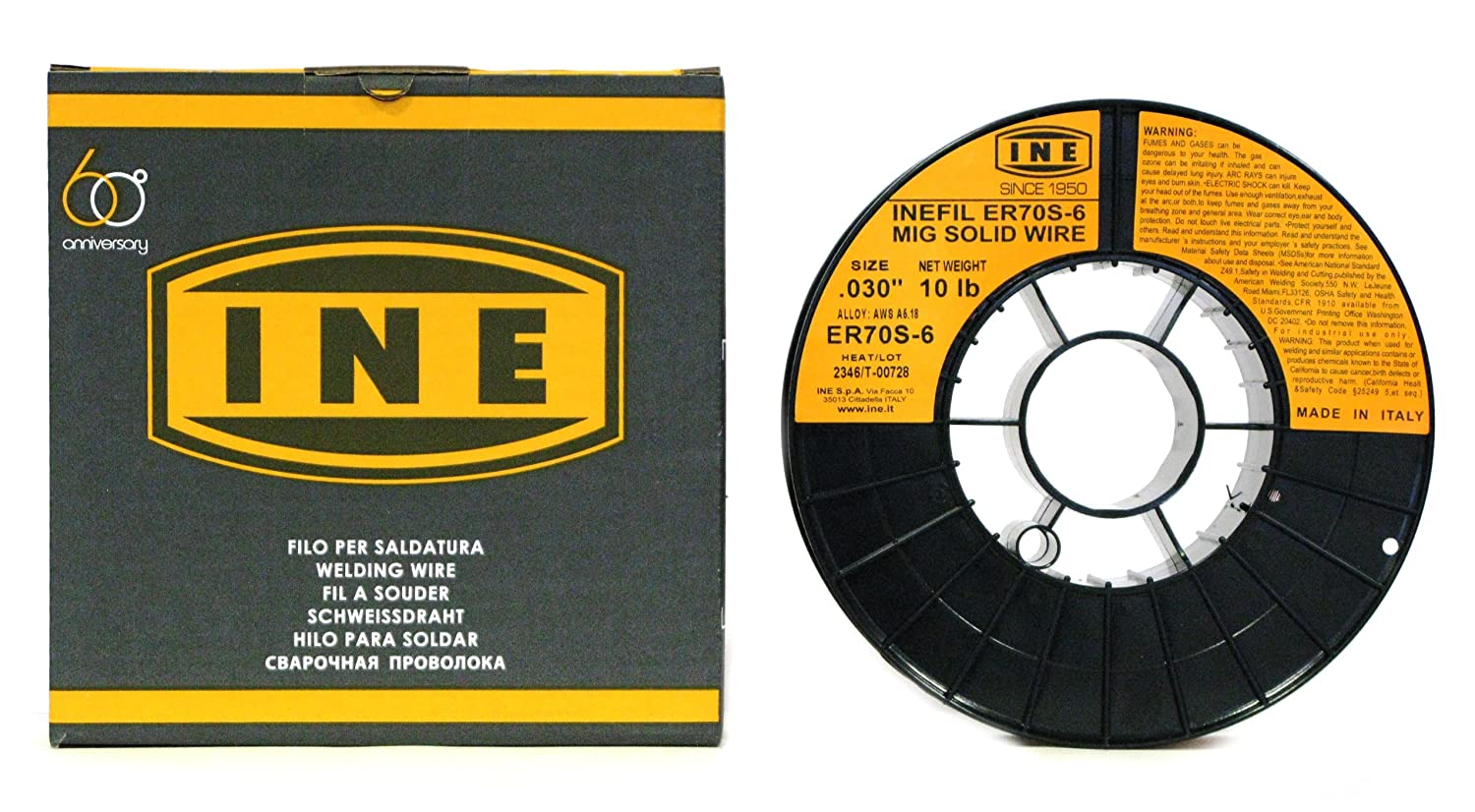 INEFIL ER70S-6 .030-Inch on 10-Pound Spool Carbon Steel Mig Solid Welding Wire (5-Pack) - - Amazon.com