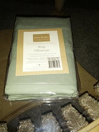 A Home Collection King Pillowcase   Grace Designs