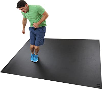 Square36 Extra Large Exercise Mat 8' x 6' x 7mm Thick. Heavy Duty Gym Mats