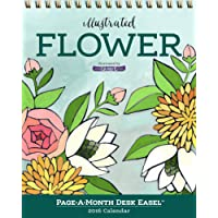 Illustrated Flower Page-A-Month Desk Easel Calendar 2016