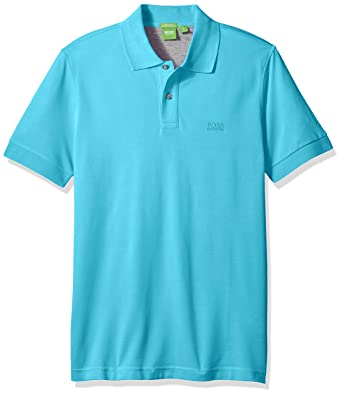 f4dff762d BOSS Hugo Mens C-Firenze Regular Fit Knitted Pique Polo C-Firenze Regular  Fit Knitted Pique Polo Short Sleeve Polo Shirt - Blue -: Amazon.co.uk:  Clothing