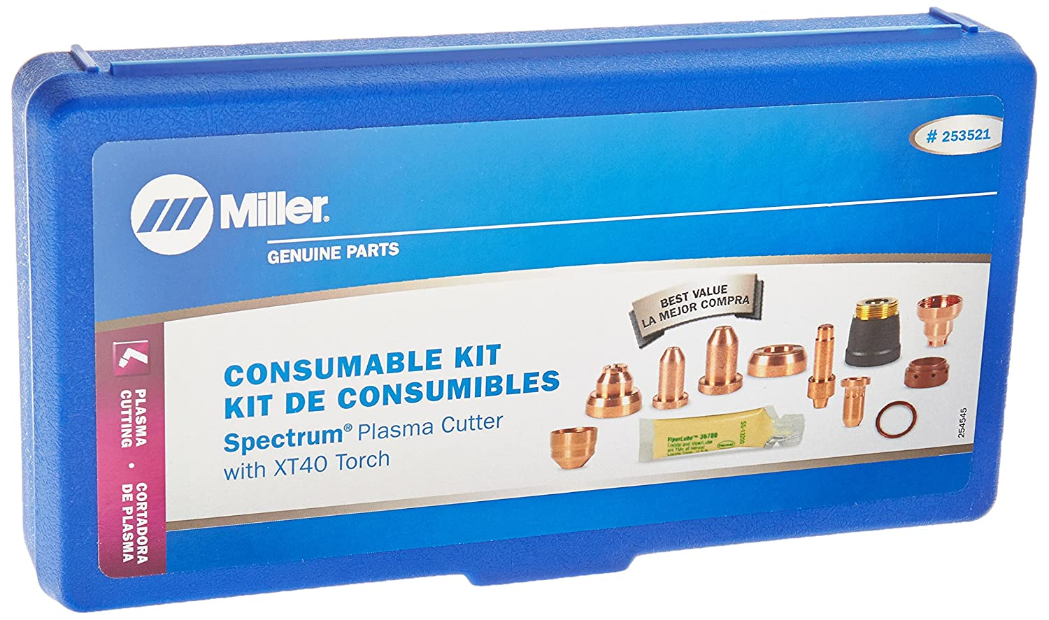 Consumable Kit, 40 AMP, For XT40 Miller Electric 253521