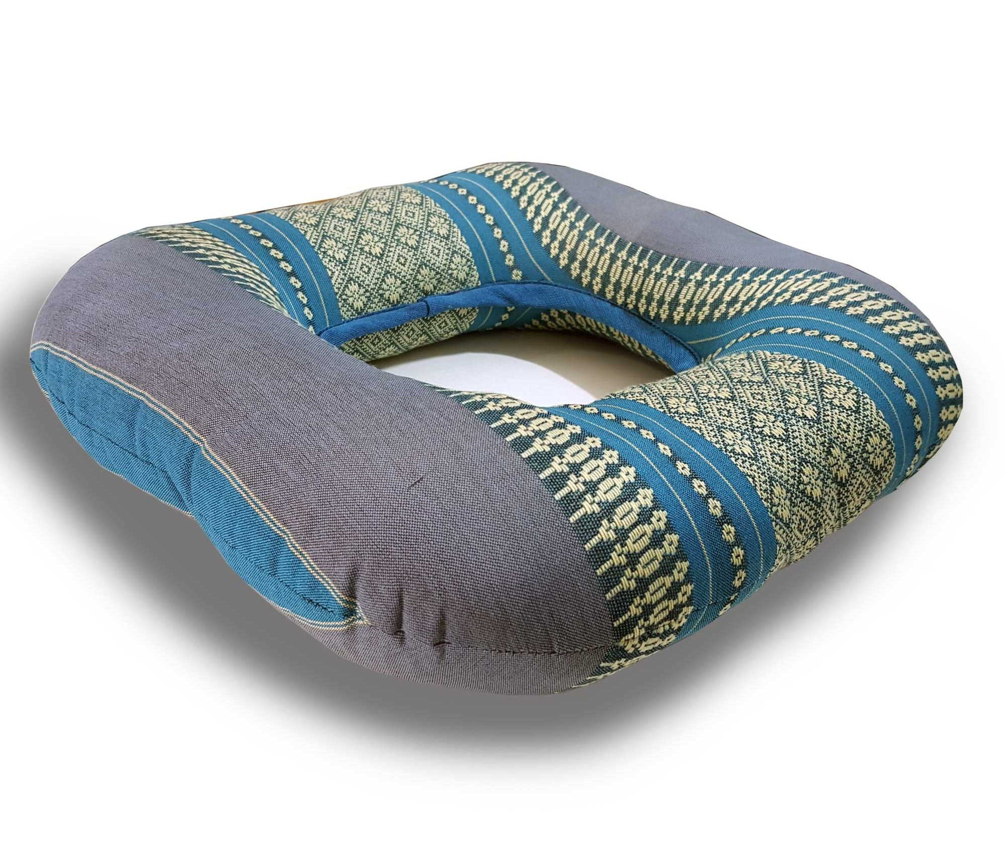 Thai handmade the donut pillow to comfort support / size 13133 inches (Aqua)