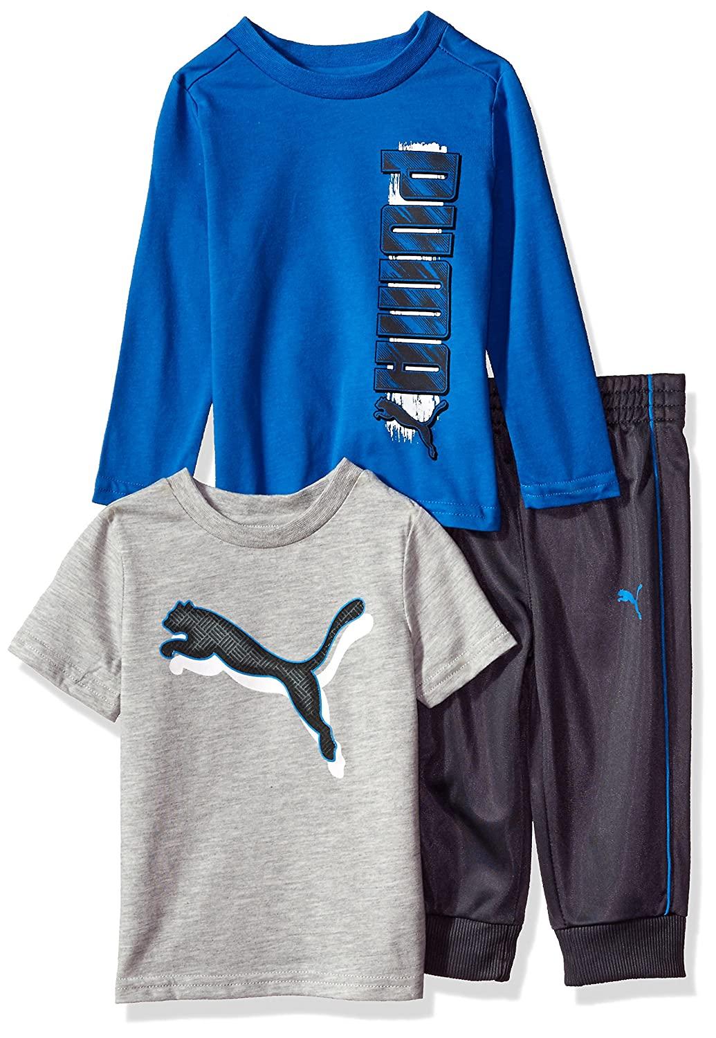 PUMA Boys' Three Piece T-Shirt and Pant Set