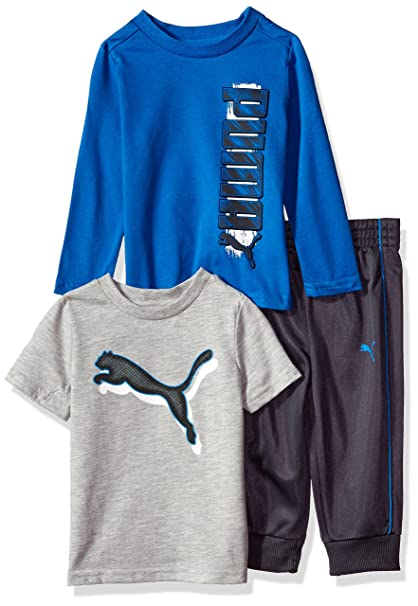 04b978a20c8d PUMA Baby-Boys Boys  Three Piece T-Shirt and Pant Set Sweatsuit ...