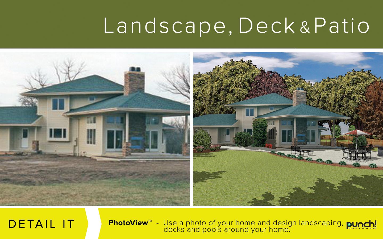 Punch! Landscape Deck And Patio Design V19 Best-selling Landscape Design Software For Windows ...