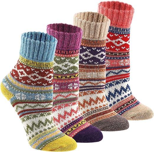 Warm Winter Fall Colorful Heart Cotton Socks Women Embroidery Crew Soft Socks
