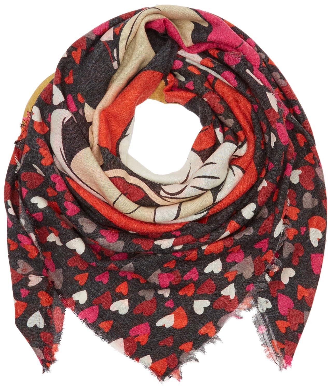 d88cfd15d734c5 CODELLO Damen Schal 62113807, Rot (red 1), One Size (Herstellergröße:  140X140): Amazon.de: Bekleidung