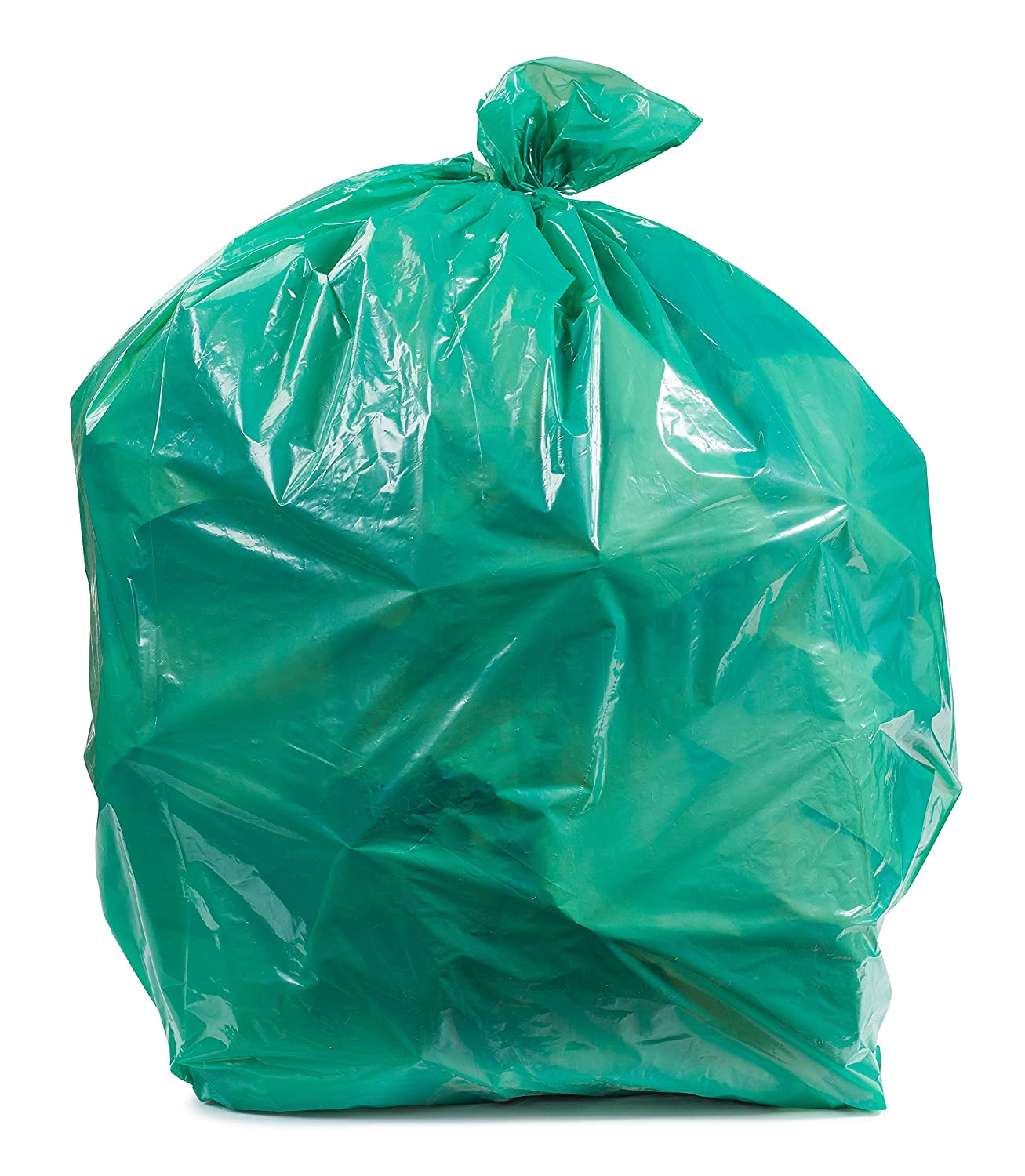 Amazon.com: Plasticplace Green Trash Bags, 12-16 Gallon 250 / Case ...