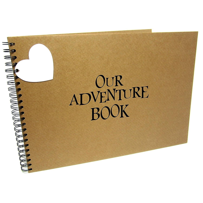 A3/XL Square Our Adventure Book, UP, Scrapbook, Card Pages, Photo Album, Keepsake, Landscape (A3 (White Pages)) Scrapbook Wonderland