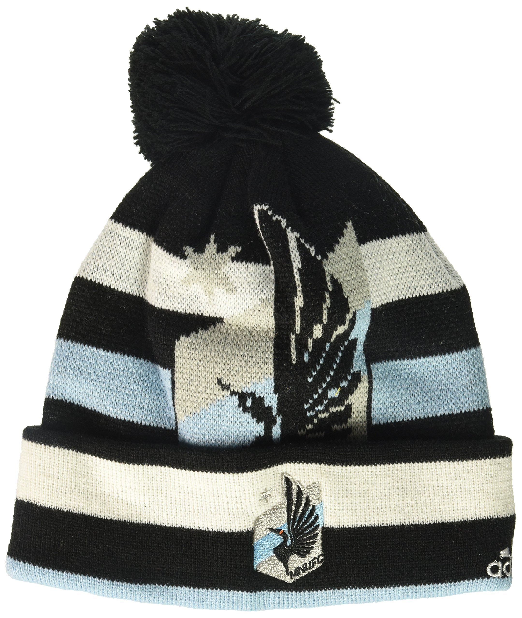 MLS Minnesota United R S8FDS Youth Boys Cuffed Knit Hat with Pom, One Size (8), Black