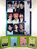 SF9 エスエフナイン グッズ / A4 クリアファイル + 4つ折り メモパッド (4連 メモ帳) セット - A4 Size Clear File Folder + Quarto Memo Pad (Mini Book Style) [TradePlace K-POP 韓国製]