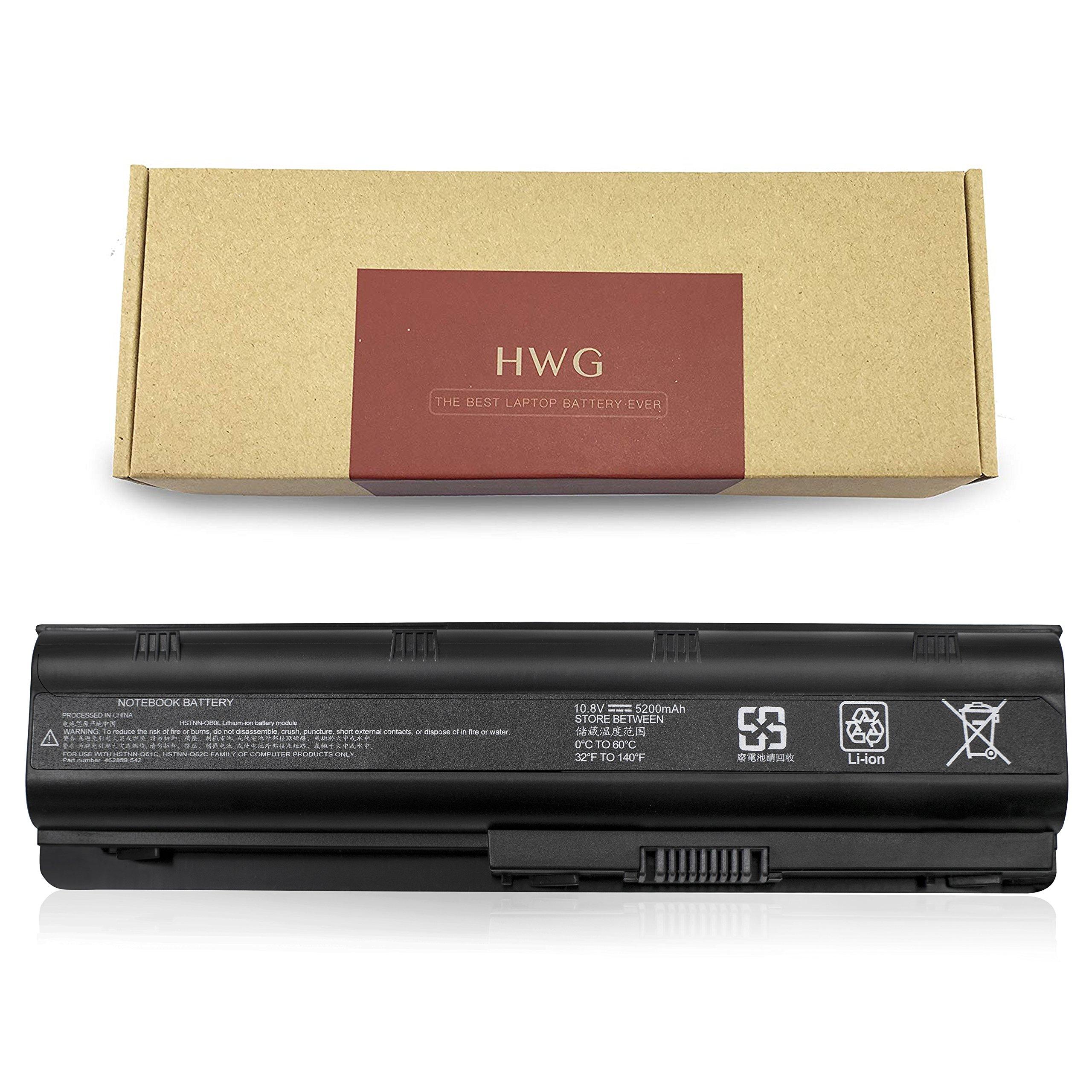 HWG DV4 battery For 462890-422 CQ40 CQ50 CQ60 CQ70 G50 G60 G70-100 G70 Series HDX16 HDXX16-1000 HSTNN-CB73 HSTNN-IB72 HSTNN-XB72 462889-121 Pavilion DV4-2145DX DV6-2150US DV6-2155DX [6-cell, 5200mAh]