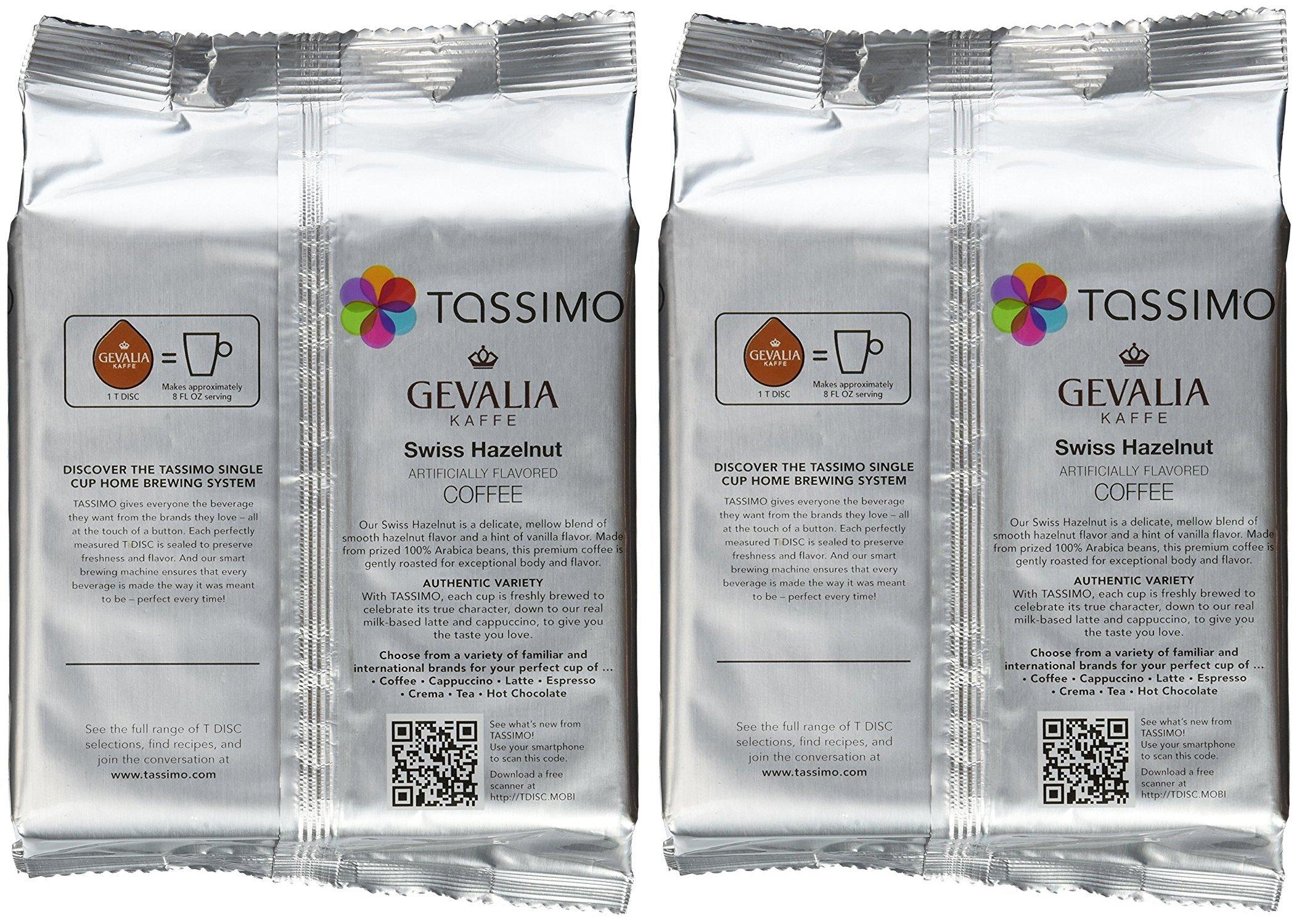 Tassimo Gevalia Kaffe Swiss Hazelnut Coffee T-Discs, 32 Count