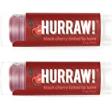HURRAW! Black Cherry Tinted (2 Pack) Lip Balm: Organic, Certified Vegan, Certified Cruelty Free, Non-GMO, Gluten Free, All Natural – Luxury Lip Balm Made in The USA – Black Cherry Tinted (2 Pack)