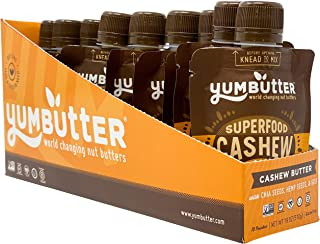 product image for Superfood Cashew Butter Packets by Yumbutter, Individual Snacks, Gluten Free, Vegan, Non-GMO, 1.8oz Packet (Pack of 10)