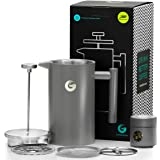 Coffee Gator French Press Coffee Maker - Thermal Insulated Brewer Plus Travel Jar - Large Capacity, Double Wall…