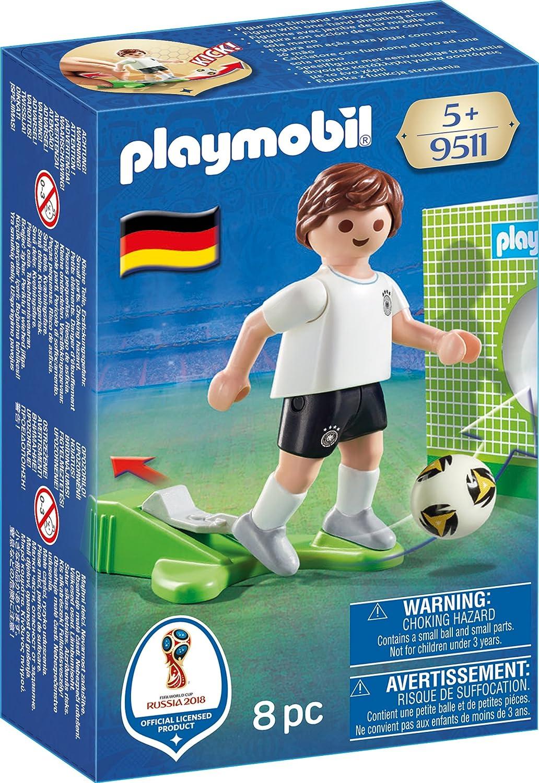 Playmobil Fútbol- Jugador Aleman Playset de Figuras de Juguete, Multicolor, 4,5 X 14,2 X 9,3 Cm (9511)