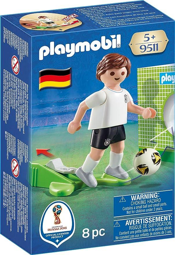 Playmobil Fútbol- Jugador Aleman Playset de Figuras de Juguete, Multicolor, 4,5 X 14,2 X 9,3 Cm (9511): Amazon.es: Juguetes y juegos