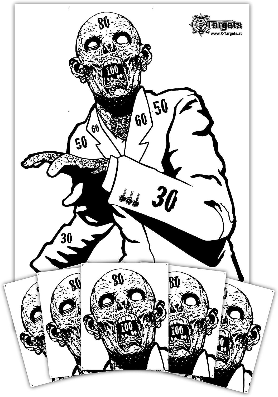 Zombie juego de discos para objetivo Snobby/50X 70Cm/Papel 120g/m²