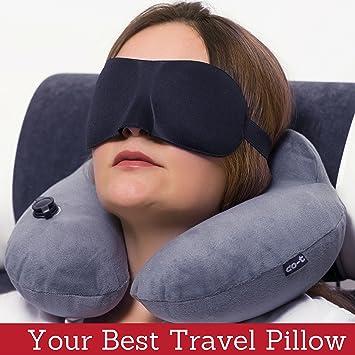 Amazon.com: Cot - Almohada hinchable para el cuello ...