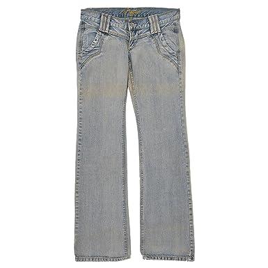 MOGUL, Damen Jeans Hose, Blondie,Denim,Blue Dirty Vintage