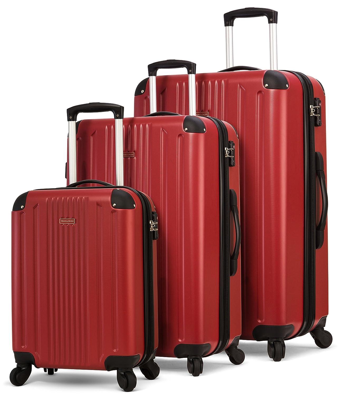 TravelCross Milano Luggage Expandable Lightweight Spinner Set - Dark Blue, 3 piece (20''/ 24''/ 28'')