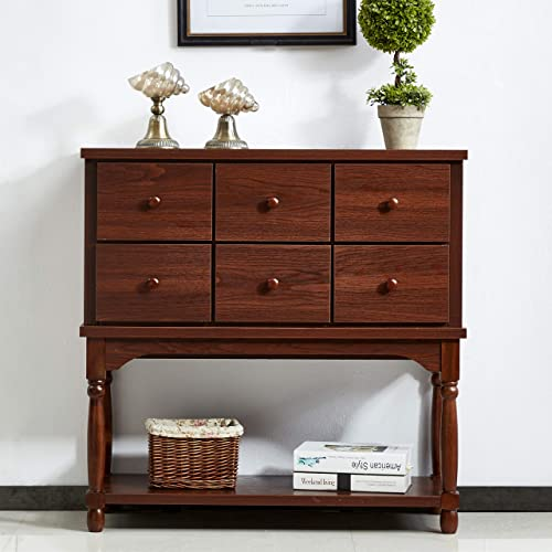 Mixcept Solid Wood Sideboard Buffet Server Cabinet Dining Room Kitchen Cupboard Console Table